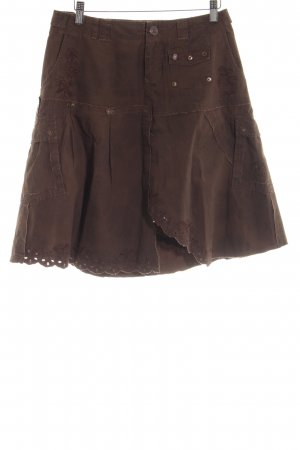 Freesoul High Waist Rock bronzefarben-braun Casual-Look