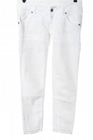 Freesoul Low Rise Jeans white animal pattern casual look