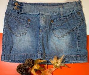 Freesoul Jupe en jeans bleuet