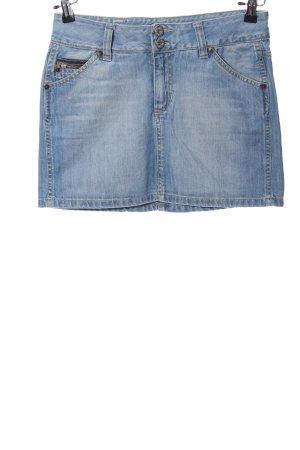 Freesoul Jupe en jeans bleu style décontracté