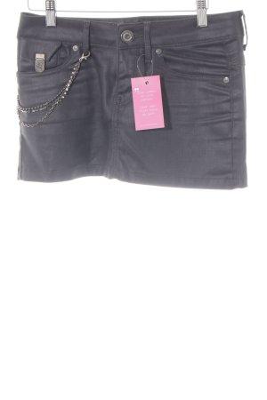 Freesoul Minirock dunkelgrau-schwarz extravaganter Stil