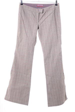 Freesoul Pantalón de campana gris claro-rosa estampado a cuadros look casual