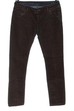 Freesoul Jeans skinny marrone stile casual