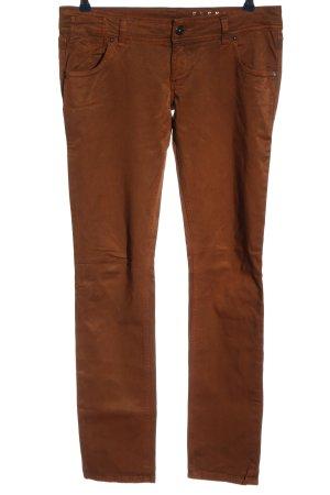 Freesoul Pantalon en jersey brun style décontracté