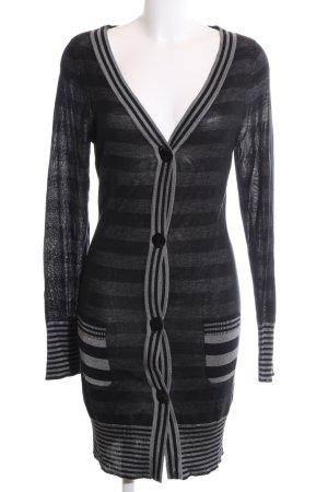 Freesoul Cardigan tricotés noir-gris clair moucheté style décontracté