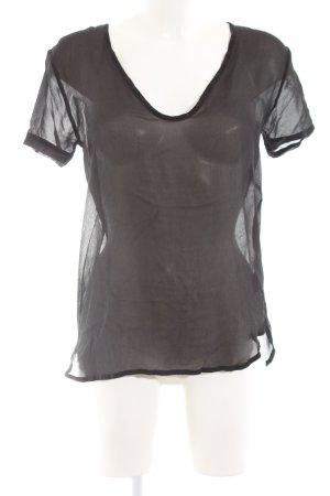 Freesoul Blouse transparente noir style simple