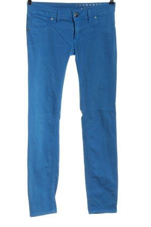 Freesoul Pantalon taille basse bleu style décontracté