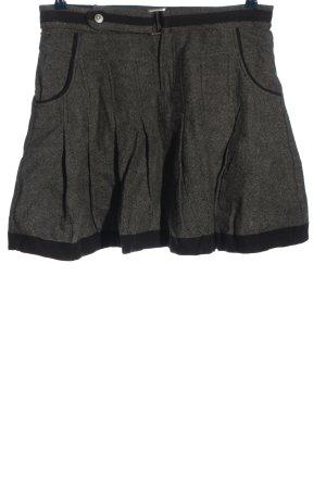 Freesoul Falda de lana gris claro-negro moteado look casual
