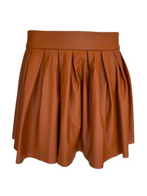freeway Faux Leather Skirt cognac-coloured-brown polyurethane