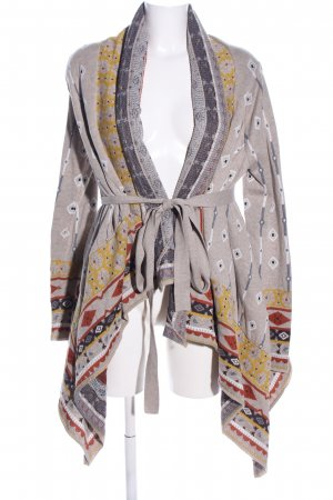 freeway Strick Cardigan grafisches Muster Casual-Look