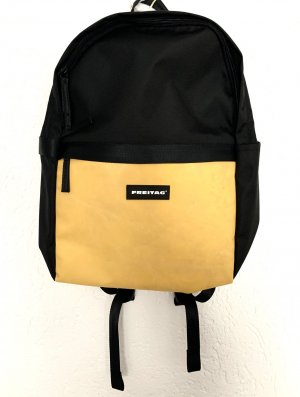 Freitag Zaino per la scuola nero-giallo pallido Tessuto misto