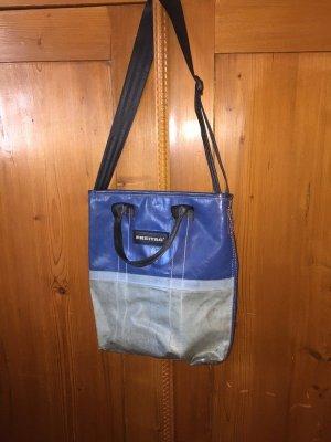 Freitag Pouch Bag blue-baby blue mixture fibre