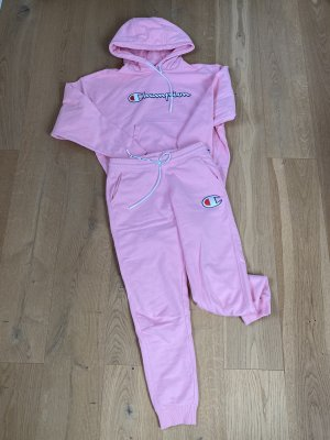 Champion Twin set in jersey rosa-albicocca
