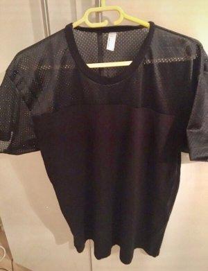 American Apparel T-shirt zwart Katoen