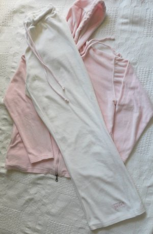 Leisure suit natural white-light pink mixture fibre