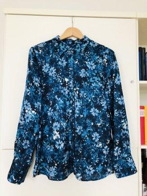Marc O'Polo Jedwabna bluzka ciemnoniebieski