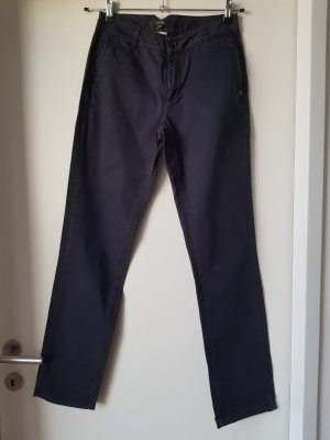 Comma Pantalon chinos bleu foncé