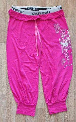 Freizeithose mit Motiv pink silber Gr 38 sportlich