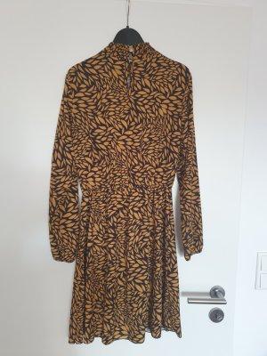 Sublevel Longsleeve Dress black-sand brown