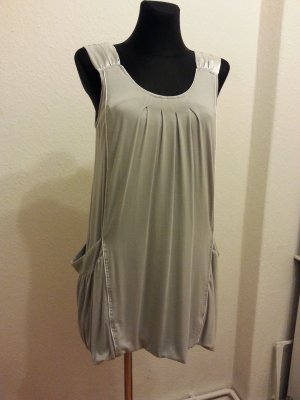 Asos Dress silver-colored viscose