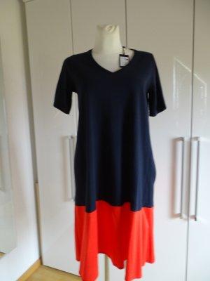 Cinque Vestido de manga corta azul oscuro-rojo Algodón