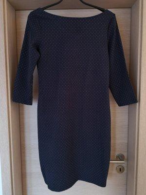 Promod Jurk met lange mouwen wit-donkerblauw