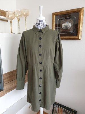 Neo Noir Tunic Dress green grey cotton