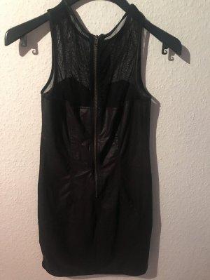 H&M Divided Spódnica z imitacji skóry czarny Poliester