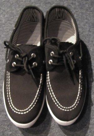 Zapatos brogue blanco-negro Algodón