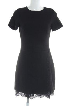 French Connection A-Linien Kleid schwarz Blumenmuster Elegant