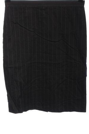 French Connection Jupe crayon noir-gris clair motif rayé style d'affaires