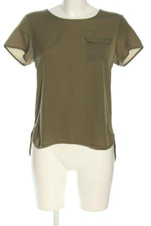 French Connection Top koszulowy khaki W stylu casual