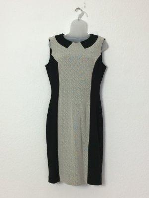 French Connection Cocktailkleid Kleid ärmellos Gr. 14 / 42 schwarz-weiß