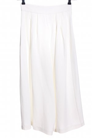 French Connection Pantalone culotte bianco stile casual