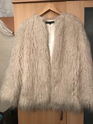 French Connection Fur Jacket natural white