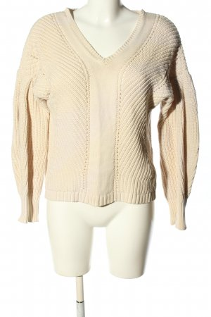 French Connection Grobstrickpullover creme Zopfmuster Casual-Look
