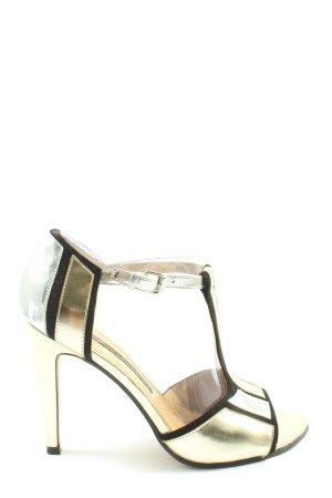 French Connection High Heel Sandaletten goldfarben-schwarz Elegant