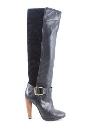 French Connection Wysokie buty na obcasie czarny W stylu casual