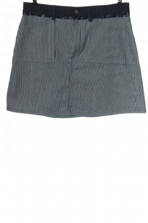 French Connection Denim Skirt blue-white striped pattern casual look