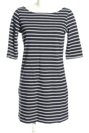 French Connection Jerseykleid schwarz-weiß Streifenmuster Casual-Look
