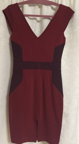 French Connection Pencil Dress brick red-carmine