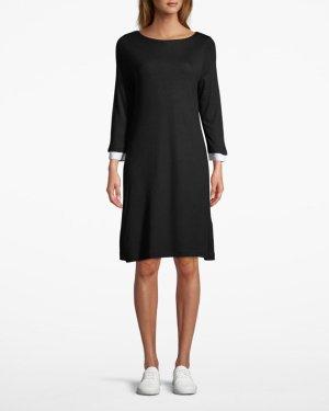 French Connection Sukienka o kroju litery A czarny-biały Wiskoza