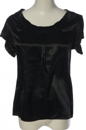 French Connection Kurzarm-Bluse schwarz Business-Look