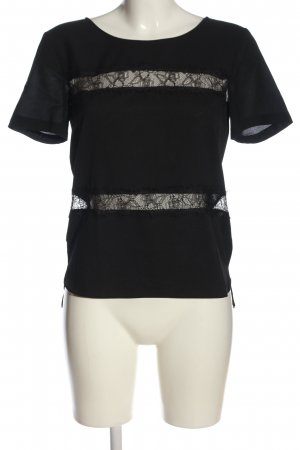 French Connection Kurzarm-Bluse schwarz Casual-Look