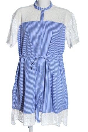 French Connection Sukienka z krótkim rękawem niebieski-biały Wzór w paski