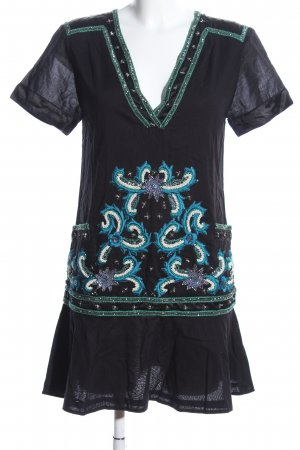 French Connection Kurzarmkleid abstraktes Muster Casual-Look