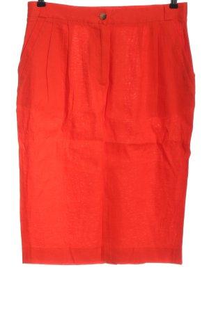 French Connection Lniana spódnica czerwony W stylu casual