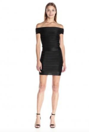 French Connection Off Shoulder Bodycon Dress