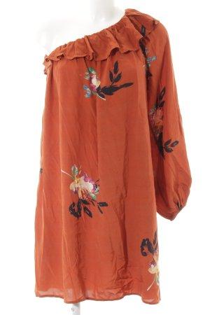 French Connection One-Shoulder-Kleid Blumenmuster Elegant