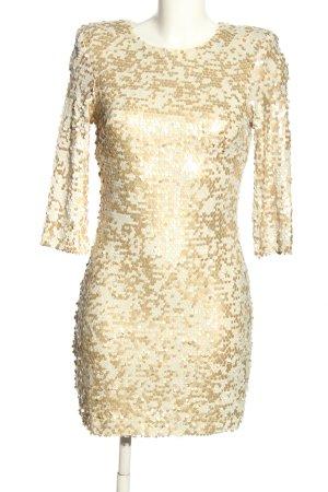 French Connection Vestido de lentejuelas crema-color oro elegante